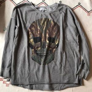 Zara Skull Sweatshirt M